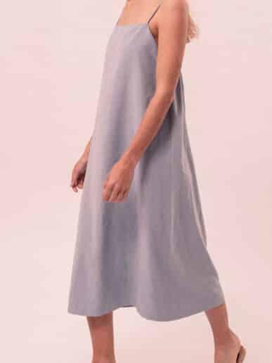 Vestido Clavel – Celeste
