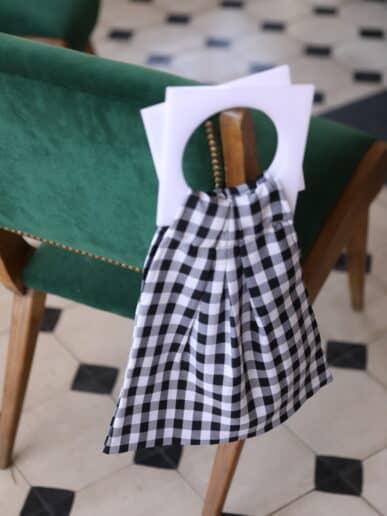 Mini bag – Negro con asas blancas
