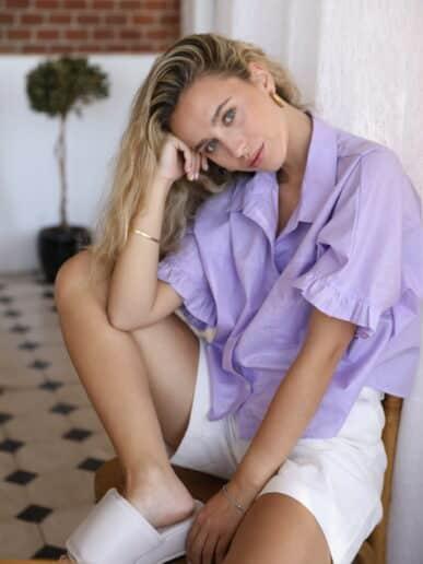 Camisa Gardenia – Lila